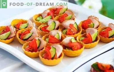 Lichte snacks aan de feesttafel - we maken snel en smakelijk. Gemakkelijke recepten voor snacks in een haast