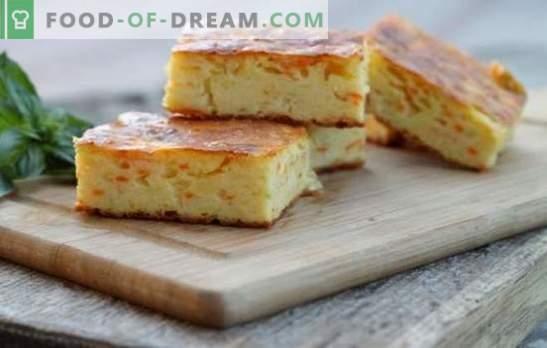 Wortel van curd-wortels - een handig en eenvoudig te bereiden dessert. De beste recepten voor een zachte curd-carrot braadpan