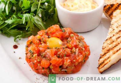 Tartare de somon - cele mai bune retete. Cum să gătești corect și gustos tartare de somon.
