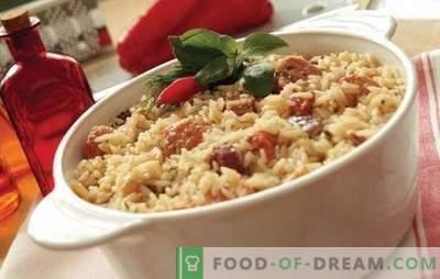 Rijst met vlees: stap-voor-stap recepten. Hoe kook je pilaf in potten, braadpan of bak in Chinese rijst met vlees (stap voor stap)