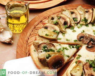 Pizza met champignons - de beste recepten. Hoe goed en smakelijk pizza met champignons bereiden.