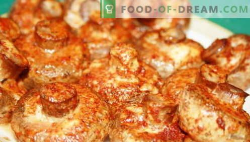 Champignons - de beste recepten. Hoe champignons en smakelijk te koken.