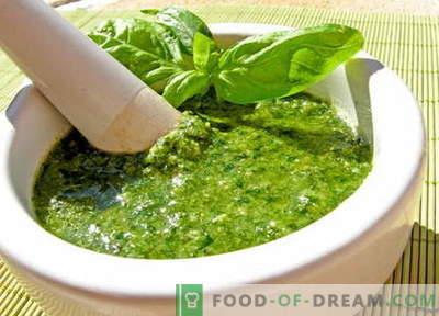 Сос од песто - најдобри рецепти. Како правилно и вкусно да се подготви сос од песто.