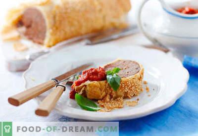 Vleesstrudel - de beste recepten. Hoe goed en smakelijk een strudel bereiden met vlees.