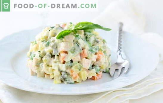 Зимски салати со колбаси: за долги зимски вечери. Рецепти Салата