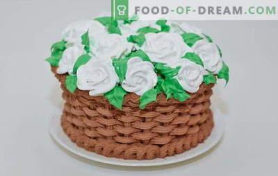Variaties in olie, room en vla van cake crèmes thuis. Koken snel en eenvoudig creme voor zelfgemaakt gebak