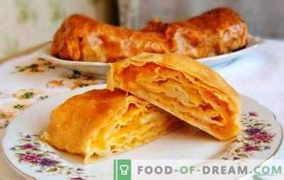 Moldavskaya Placinda - een tortilla met een vulling of een taart? Recepten Moldovische placinda met verschillende vullingen