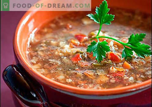Soep met boekweit - bewezen recepten. Hoe goed en kook je soep met boekweit.