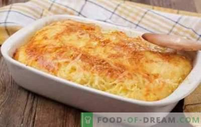 Noodle gehakt braadpan - een smakelijk gerecht van beschikbare producten. Een selectie van recepten voor noedelschotel met gehakt