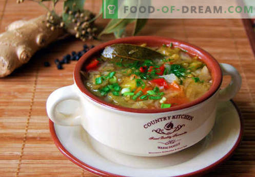 Bonn-soep - bewezen recepten. Hoe Bonnine goed en smakelijk te koken.