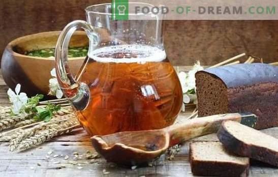 Thuisbrouwsel (stap voor stap recept) is een natuurlijk, verfrissend drankje. Stapsgewijs recept voor zelfgemaakte kwas met gist en gistvrije