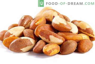 Paranoot - beschrijving, nuttige eigenschappen, gebruik in de keuken. Recepten met paranoten.