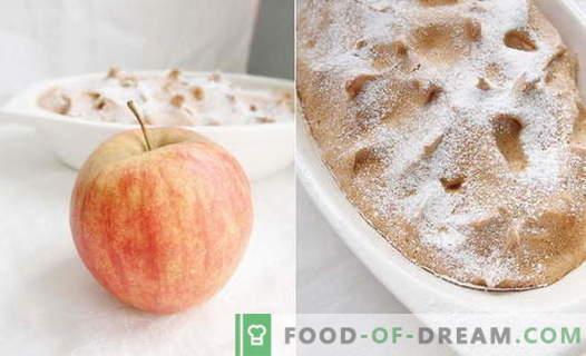 Apple-soufflé - de beste recepten. Hoe kun je snel en lekker appel-soufflé koken.