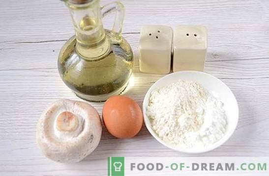 Champignonkoteletten: een stapsgewijs foto-recept. Heerlijke heerlijke champignonpasteitjes koken - diversifiëer familie diners!