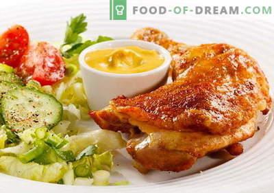Gebakken kip - de beste recepten. Hoe gefrituurde kip te koken.