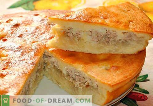 Filetpasteitjes met kool, aardappelen, kefir en een slowcooker. De beste recepten van gelei taarten.