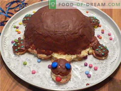 Cake-schildpad - de beste recepten. Hoe goed en smakelijk koken schildpad taart.