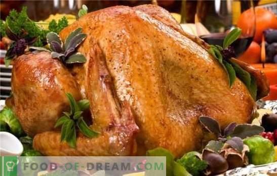 Turkije gebakken in de oven houdt van