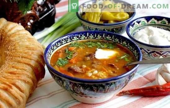 Stapsgewijs recept voor Kharko-soep van kip, lam of rundvlees. Methoden voor het bereiden van kippen Kharchosoep in een stap voor stap recept