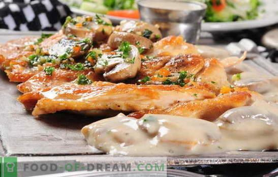 Carne în franceză cu ciuperci în cuptor - îl iubim și pe el! Rețete franceze de carne cu ciuperci, roșii, cartofi