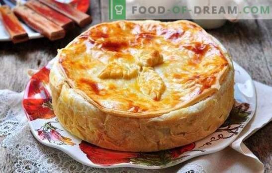 Kurnik met kip en zandkoekdeeg: 6 recepten. Kippen- en zandkoekdeeg snel bereiden