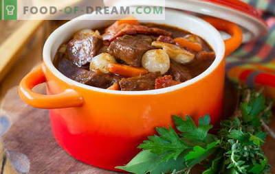 Stoofpot van varkensvlees - we koken met plezier! Verschillende recepten van varkensstoofpot met groenten, boekweit, rijst, groene bonen