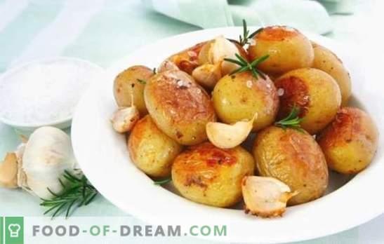 Kartul küüslauguga - rahuldav ja tervislik. Keetmise võimalused igaühe lemmik kartuliga küüslauguga