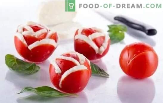 Tomatensnacks, salades en bijgerechten voor de winter. Bewezen recepten voor tomatensnacks voor het wintermenu: met peper, champignons, noten