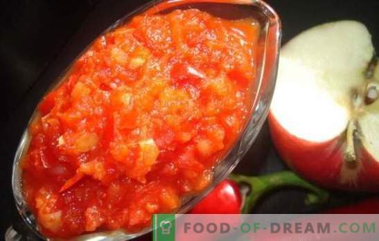 Adjika met appels voor de winter: zoetzure saus voor alle gelegenheden. De beste recepten adjika met appels voor de winter
