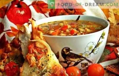 Lenten soep met bonen - oude technologie met nieuwe componenten. Recepten van meatless soep met bonen in de nieuwste Russische keuken