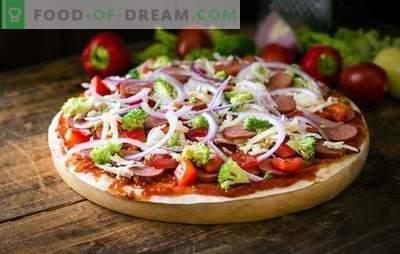 Pizza in 5 minuten: een recept voor mensen die snel zijn. Pizza koken in 5 minuten: van producten die altijd bij de hand zijn en in de koelkast staan 