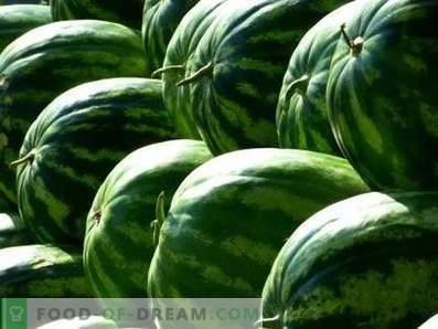 Hoe watermeloenen te bewaren