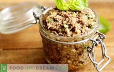 Snack van kaviaar van witte champignons - naar de tafel zelfs warm, zelfs koud! Koken heerlijke kaviaar van witte champignons