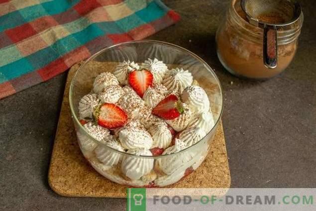 Tricolă cu căpșuni - desert ușor