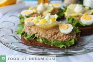 Kabeljauwlever broodjes