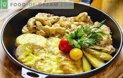 Varkensvleesfricassee - eenvoudig, eenvoudig, bevredigend! Recepten varkensvleesfricassee met groenten, paddestoelen, bonen, room