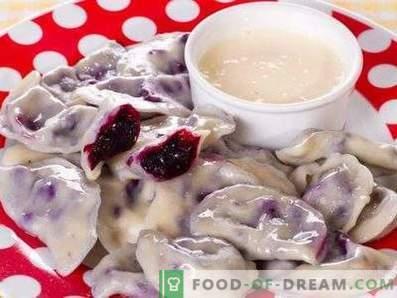 Dumplings met bosbessen