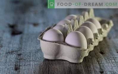 Hoeveel eieren worden er bewaard in de koelkast en zonder