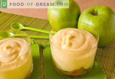Apple-mousse - de beste recepten. Hoe je op een goede en heerlijke manier appelmousse bereidt.